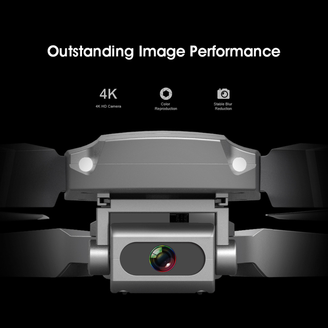 New E68 WIFIWide Angle HD 4K 1080P Camera Hight Hold Mode RC Foldable Quadcopter Drone 3