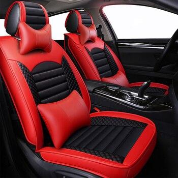 New Leather Cartoon Universal car seat covers for hyundai ix 35 ix25 bandeja ix35 santa fe solaris sonata of 2018 2017 2016 2015