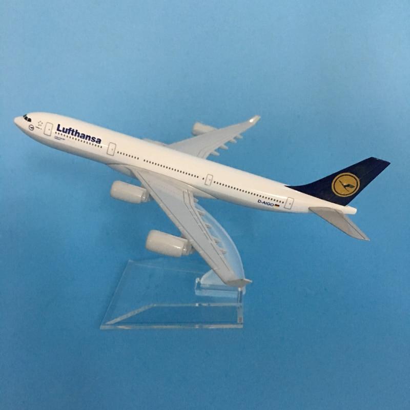 JASON TUTU 16cm Lufthansa Boeing 747 Plane Model Airplane Model Airbus Aircraft Model 1:400 Diecast Metal Airplanes Plane Toy