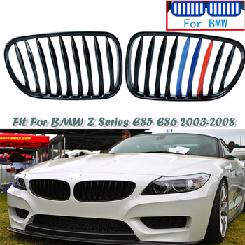 M Performance Car Front Bumper Racing Kidney Grilles Replacement Cover For Z4 E85 E86 BMW Z4 2.0i 2.2i 2.5i 2.5si 3.0i 3.0si e39 image