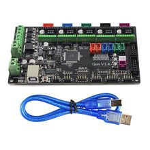 3D Printer Remix Board controller main board MKS Gen V1.4 compatible with Ramps1.4/Mega2560 R3 support a4988/DRV8825/TMC2100 4 layers pcb controller board mks gen v1 4 integrated mainboard compatible ramps1 4 mega2560 r3 with usb cable and 5pcs a4988