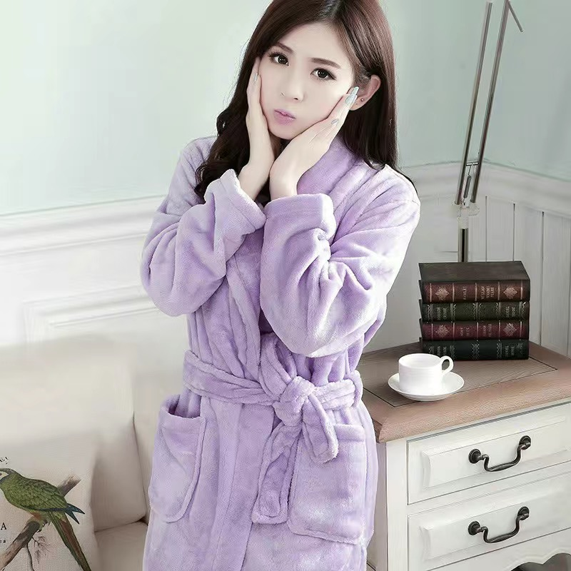 5XL Bathrobe Winter Woman Dressing Gown Pajamas For Adults Ladies One-Piece Flannel Robe Plus Size 120Kg Wear Velvet Nightgown