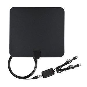 Image 2 - Цифровая ТВ антенна DLENP, цифровой HDTV усилитель, ТВ антенна DVB T TDT, внутренняя версия, для спутникового ресивера, диапазон 50 миль
