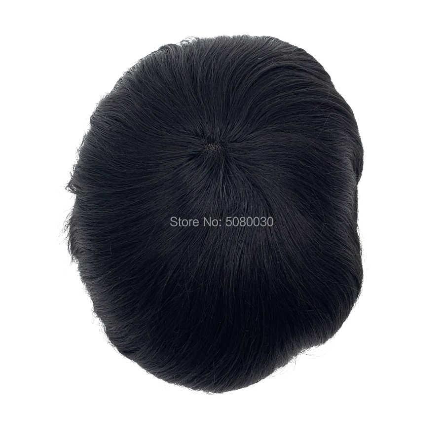 Sistema de cabello de encaje suizo a medida para hombre