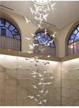 Bird Bird Seagull Sales Office Sand Table Hotel Lobby Duplex Staircase Mall Atrium Aerial Hanging Light