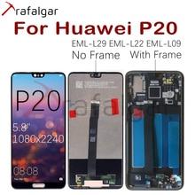טרפלגר תצוגה עבור Huawei P20 LCD תצוגת EML L22 EML L09 EML L29 Digitizer מגע מסך עבור Huawei P20 תצוגה עם מסגרת