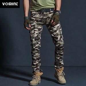 Image 1 - Vômito Estilo Militar dos homens Carga Calças Dos Homens Impermeável Respirável Calças Masculinas Corredores Exército Bolsos Das Calças Casuais Plus Size