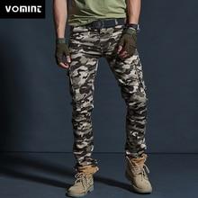Vomint erkekler askeri stil kargo pantolon erkek su geçirmez nefes erkek pantolon Joggers ordu cepler rahat pantolon artı boyutu