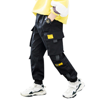 Spring Brand Kids Boys Pants Cotton Solid Cargo Pants  4-15 Year 6