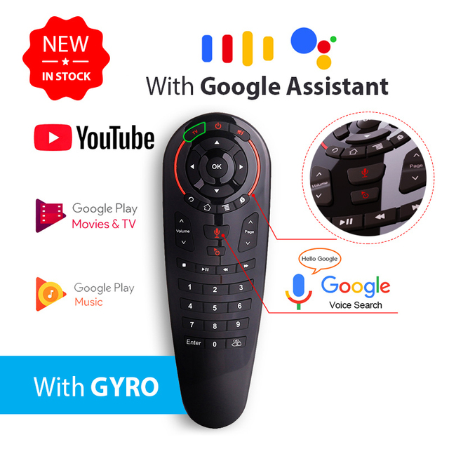 G30 Google Voice Air Mouse g30s 2.4GHZ Draadloze Afstandsbediening Zoek Assistent airmouse Voor Xiaomi X96max Mag 232 HTv 5 Tv Box