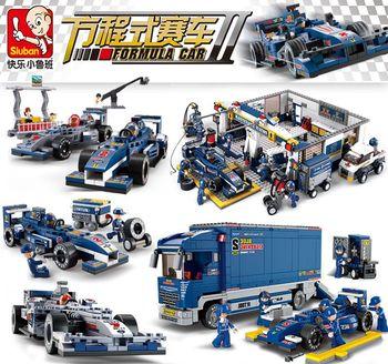 Carreras compatibles con la ciudad, fórmula 1, coches de carreras, F1 Estación de transporte, conjunto de camión de construcción, figuras de bloques, chico de juguete, vehículo para niños