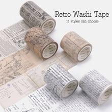 Ensemble de bandes Washi rétro, étiquette décorative, pour Journal, Scrapbooking, masquage