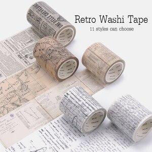 Retro Washi Tape Set Decorative Wash Bullet Journal Washi Decorada Stickers Vintage Decoration Scrapbooking Masking Washi Tape(China)