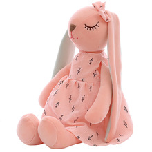 Plush-Toys Rabbit-Doll Sleeping-Mate Stuffed Long-Ears Baby Soft Children Cartoon Cute