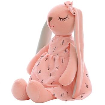 35CM Cute Cartoon Long Ears Rabbit Doll Baby Soft Plush Toys For Children Rabbit Sleeping Mate Stuffed Plush Animal Toys Infants 25cm 35cm 45cm new rabbit plush soft animal stuffed scarf rabbit toys kid s party plush toy bouquet plush dolls toys gift