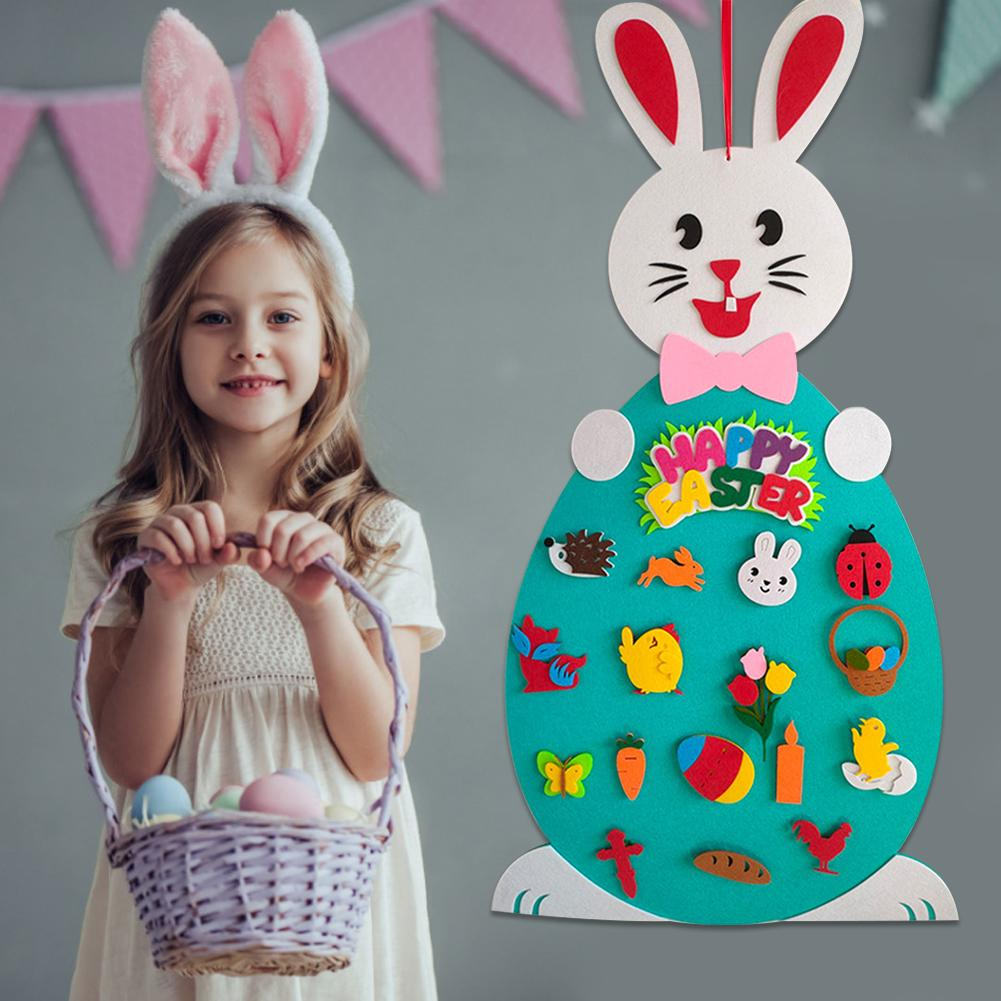 2020 Easter Felt Pendant DIY Game Gift Decoration Play Fun Fun Pendant Easter Supplies Easter Bunny Decoration