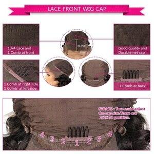 Image 5 - Dream  Beauty 13x6 deep part Lace Front Wigs Remy Brazilian hair  Body Wave Human Hair Ombre Color Wigs Bleached Knots