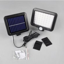 LED Solar Light Outdoors Garden Light Waterproof PIR Motion Sensor Wall Lamp Spotlights Security Emergency Street Lamp все цены
