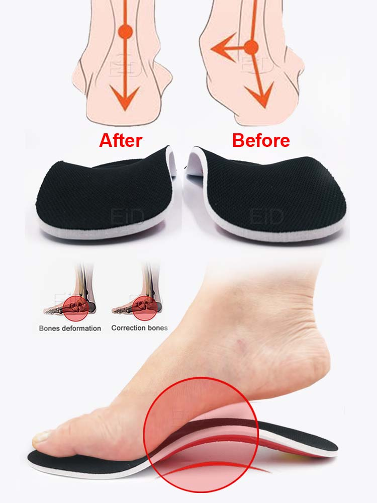 Eid Insoles Gel-Pad Arch-Support Orthotic-Gel Flat-Feet Pain Premium 3D Women/men