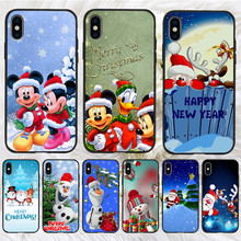 Mickey Christmas For iPhone X XR XS Max 5 5S SE 6 6S 7 8 Plus Oneplus 5T Pro 6T phone Case Cover Coque Etui funda capinha capa karl lagerfeld for iphone x xr xs max 5 5s se 6 6s 7 8 plus oneplus 5t pro 6t phone case cover funda coque etui funda capa cute