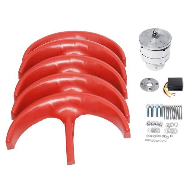 9000W Vertical Axi Wind Turbines Generator Lantern 12V 24V 5 Blades Motor Kit For Home Hybrids Streetlight Electromagnetic 2