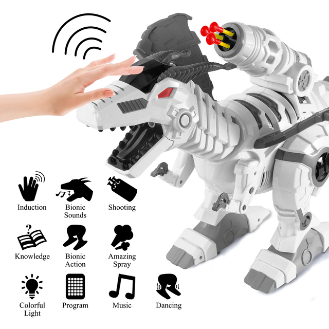 Mist Spray Remote Control Dinosaurs Toys Electric Dinosaur RC Robot Animals Educational Toys for Children Boys Gifts 2
