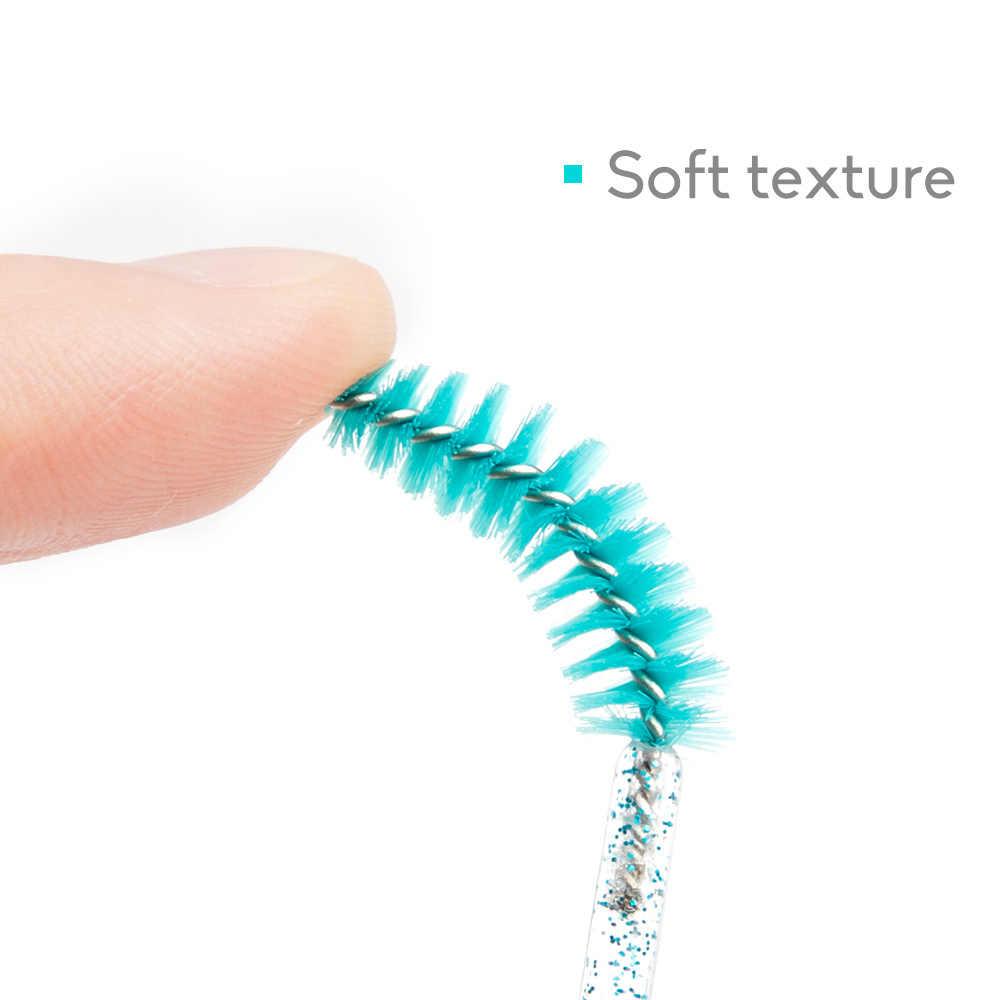 Zwellbe Goede Kwaliteit Wegwerp 50 Stks/pak Crystal Wimper Make-Up Borstel Diamant Handvat Mascara Wands Wimper Extension Tool