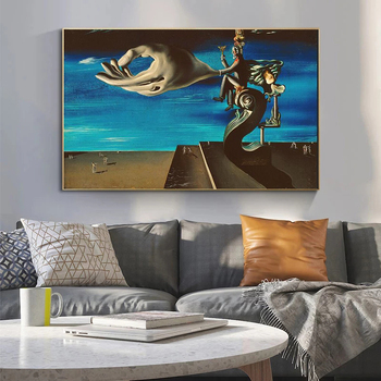 Surrealism Canvas Painting The Hand By Salvador Dali Famous Poster Print Wall Art Picture for Living Room Home Wall Decor Cuadro 4