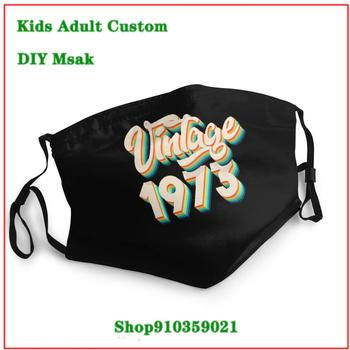 Unique uxury designer face mask mascarillas de tela lavables con filtro Vintage 1973 - 46th Birthday Retro mascarilla lavable