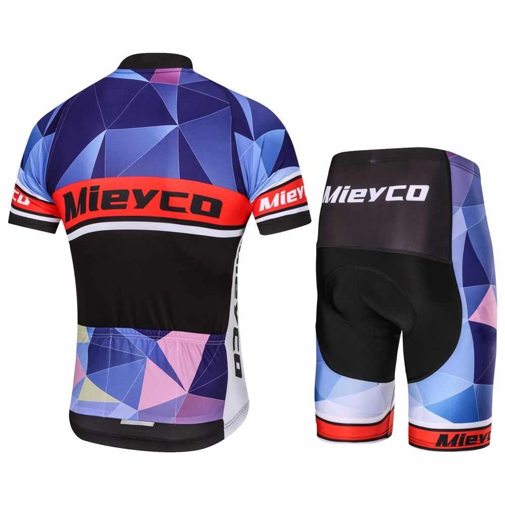 Profesjonalna odzież do kolarstwa drużynowego mężczyźni z krótkim rękawem koszulka na rower zestaw Sport MTB Wear szybkie suche męskie szosowe ubrania męskie kombinezon do jazdy