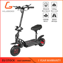 ¡Stock Europeo! KUGOO g-booster Scooter plegable eléctrico para adultos 1600W Motor máximo 85KM 55 KM/H Backcountry Fan Scooter mejor que M365(China)