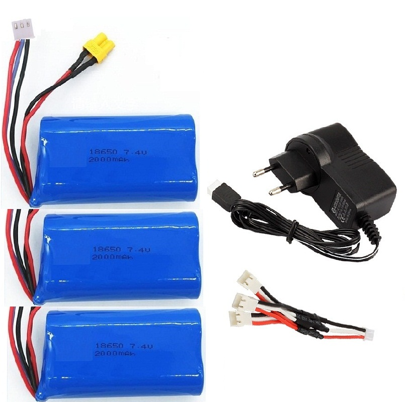 Ewellsold HUINA 580 1580 1583 PARTS Accessories 7.4V 2000mAh Lipo Battery XT30 Plug 1580-005