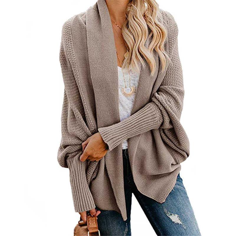 CHSDCSI трикотажный кардиган для женщин однотонного размера плюс Feminino серый винтажный черный длинный рукав трикотажная верхняя одежда пальто большой размер кардиганы