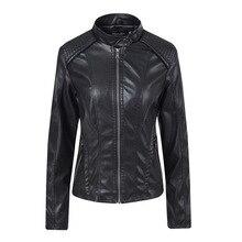 AliExpress весна и осень стиль Модное кожаное пальто женское пальто корейский стиль Женская одежда Локомотив кожаная куртка Bri
