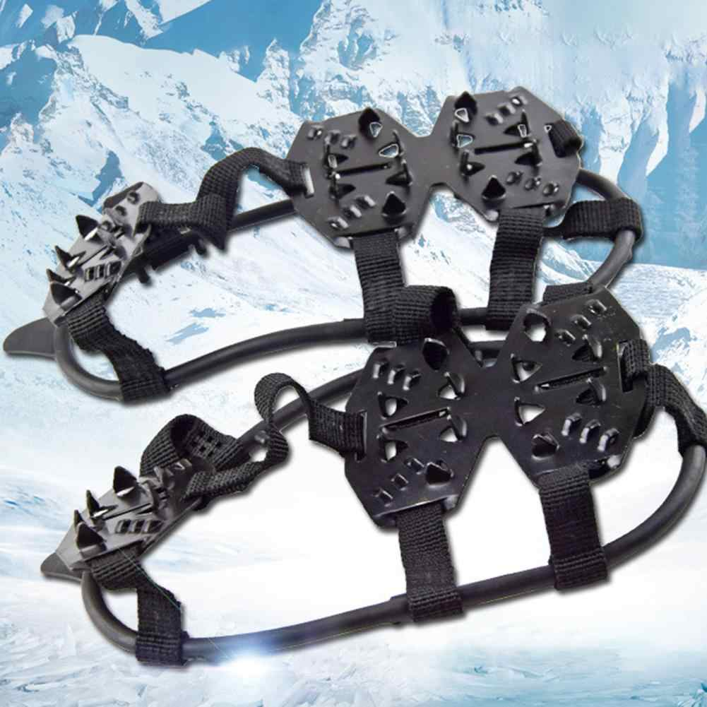 2 Pairs Winter 24-Studs Crampons Professional Ice Cleats Boots Shoes Covers