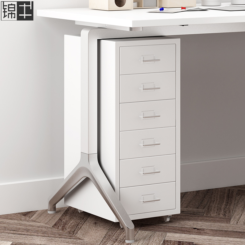 File Cabinets, Iron Cabinets, Low Cabinets, Storage Cabinets, Mobile Cabinets, Five Buckets Of Drawers Under The Table
