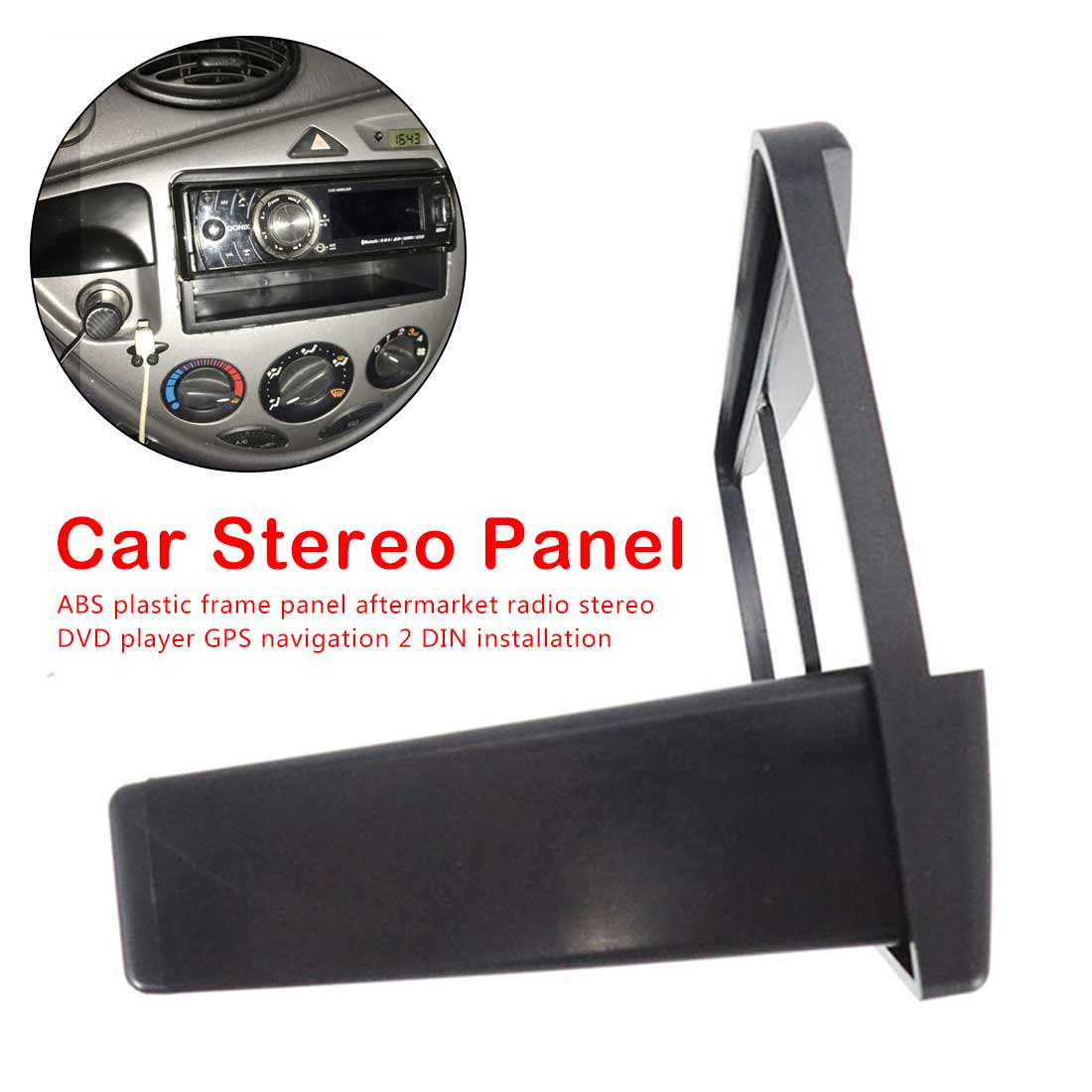 1 DIN DVD Fascia Panel Frame Car Stereo Radio Plate Audio Dash Mount Kit Adapter for Ford Fiesta Focus 1998 - 2006 image