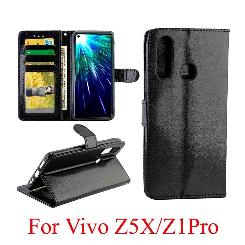 Leather Flip Case for VIVO Z1 Pro Wallet Case for Vivo Z5X Card Slots Stand VIVOZ5X Magnet Cover for VIVO Z1 Pro Case capa