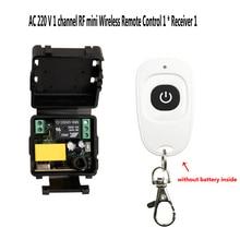AC 220V Mini Sem Fio RF Controle Remoto Interruptor de Luz 10A 1CH Relé Módulo Receptor + Transmissor