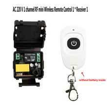 AC 220V ミニワイヤレス RF リモート制御光スイッチ 10A リレー 1CH 受信機モジュール + トランスミッタ