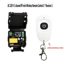 AC 220V البسيطة اللاسلكية RF التحكم عن بعد مفتاح الإضاءة 10A تتابع 1CH وحدة الاستقبال + الارسال