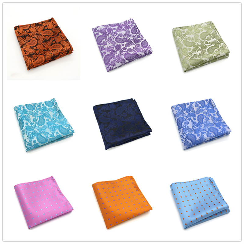New Mens 100% Silk Handkerchief Plaids Paisley Polka Dots Pocket Squares For Suits Jackets Wedding Party Pick From 20 Patterns