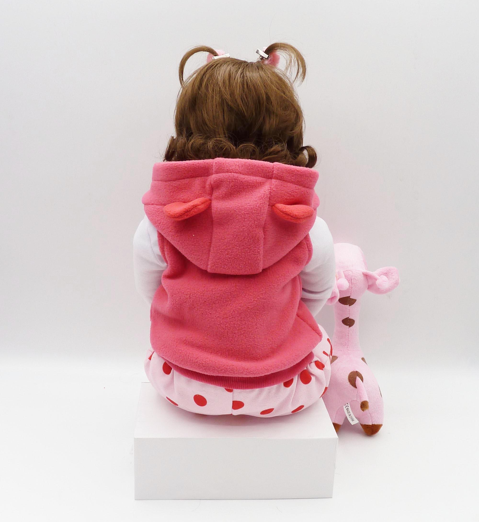 Nouveau-né 19 pouces silicone poupée bebe reborn poupée mignon peluche jouet bébé fille donne à l'enfant le meilleur cadeau d'anniversaire de noël enfant! - 2
