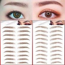Transferência de água 6d sobrancelhas adesivo semi-permanente longa duração falso marrom sobrancelha tatuagem adesivos ferramentas de maquiagem dos olhos