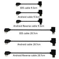 Cable de datos OTG, mando a distancia para teléfono, conector de tableta, Micro USB tipo C, IOS, Cable de extensión para DJI Mavic MINI Pro Air Mavic 2