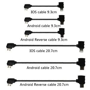 Cabo de dados otg remoto para smartphone, conector micro usb tipo c para ios, cabo extensor para dji mavic mini pro air mavic 2