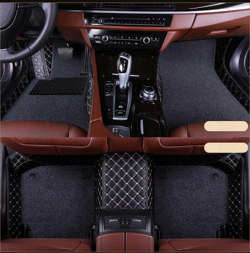 Custom Auto Vloermatten Dubbellaags Auto Matten Voor Cadillac Sls Atsl Cts Xts Srx CT6 XT5 Ats Escalade Auto accessoires Auto Styling