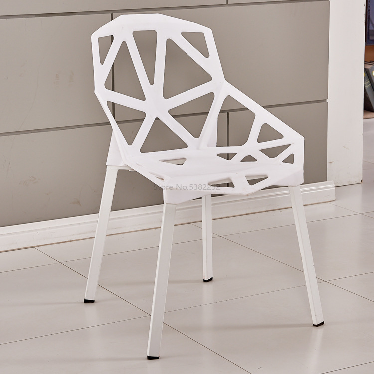 Chair Concise Modern Originality Wrought Iron Hollow Out Hotel Leisure Time Plastic Chair Adult Backrest Negotiate Computer