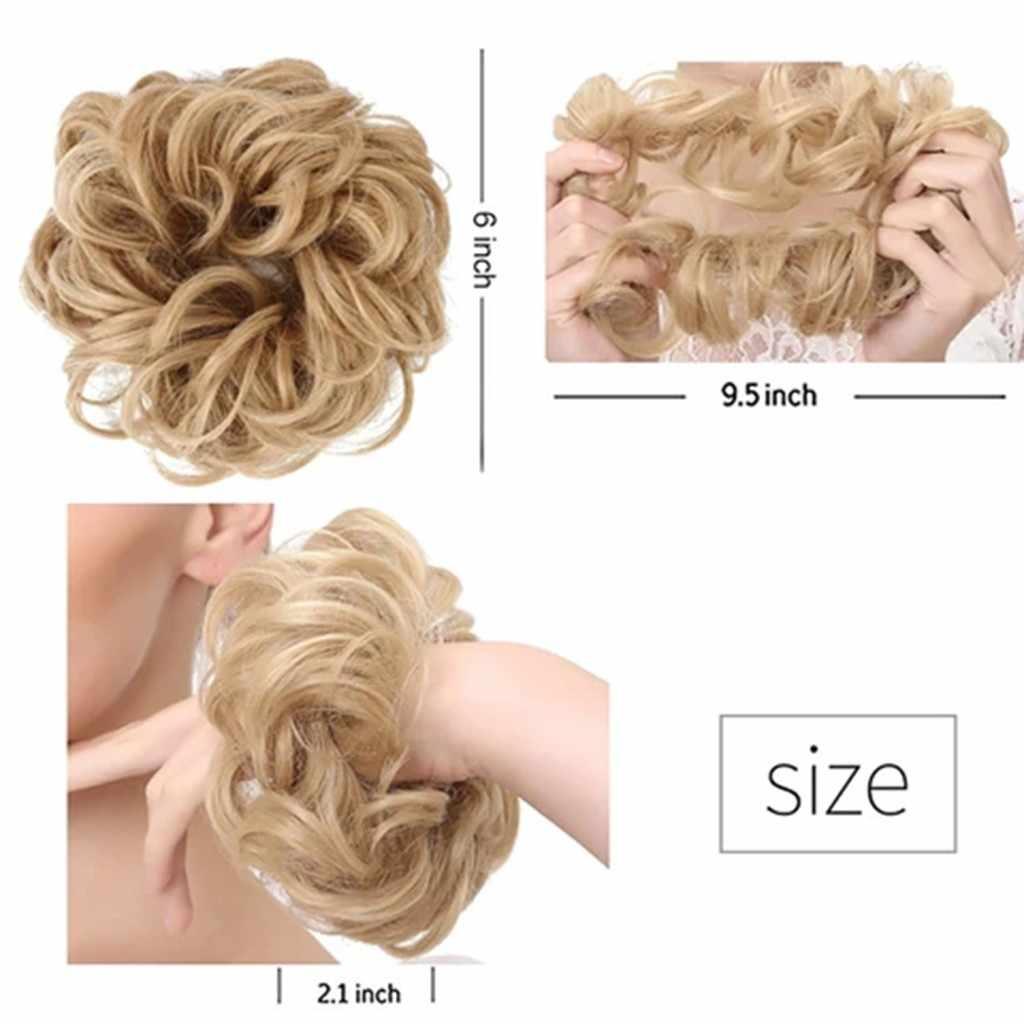 3D จำลองวิกผมสุทธิสวมใส่ง่ายสไตล์ผมวงกลมผู้หญิงวงกลมผม Elastics diademas Para el pelo mujer