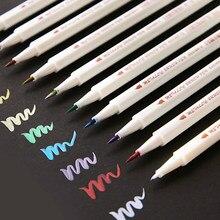 10 farben STA Metallic Marker Stift Scrapbooking Handwerk Karte, Der Pinsel Runde Kopf Kunst Stift Zeichnung Schreibwaren Büro Liefert
